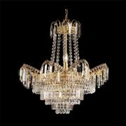 Adagio 9 Light Fitting in a Gold Finish with Glass Droplets - ENDON 96819-GO